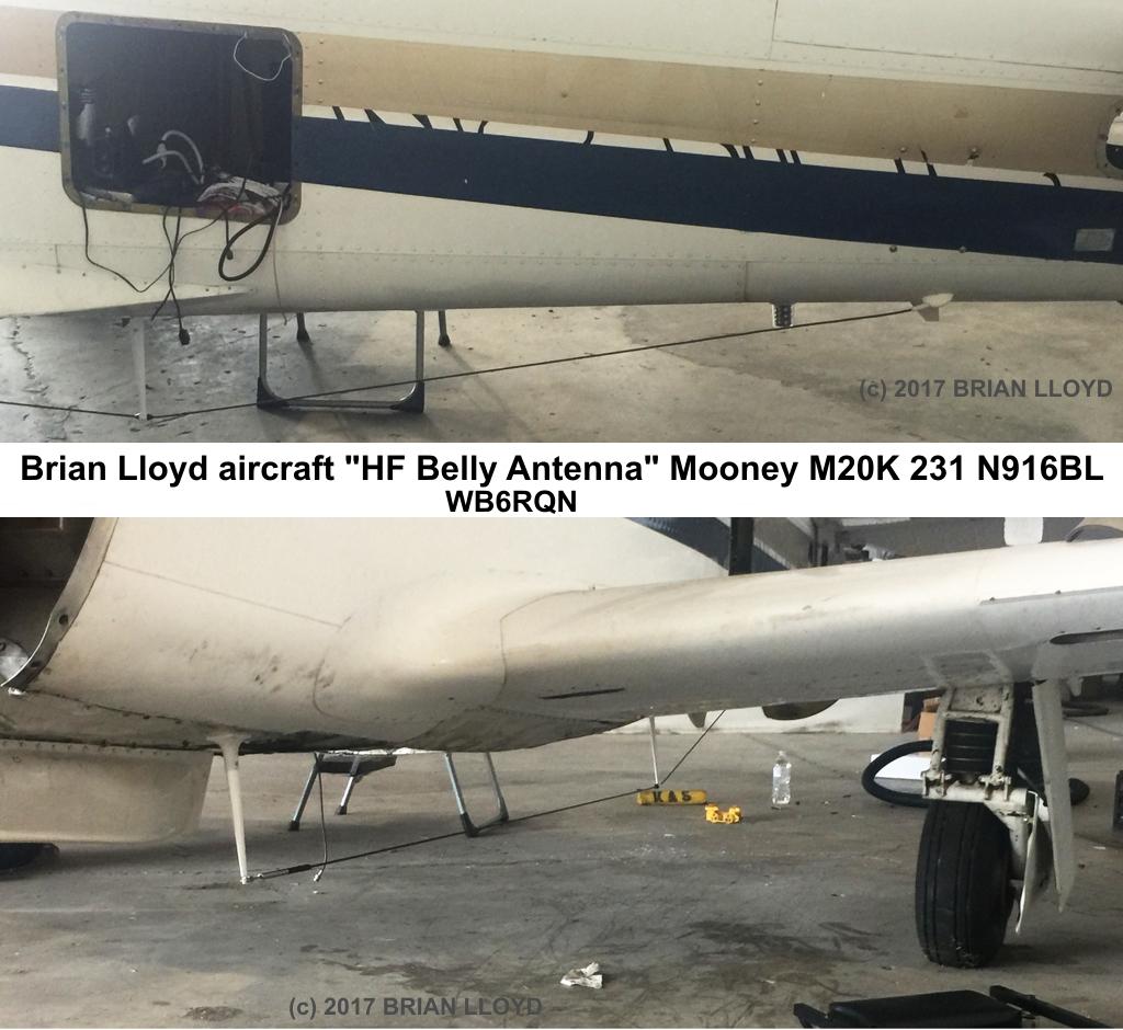 N916BL Mooney HF Belly Antenna Brian Lloyd