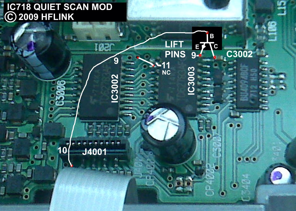 IC-718 Quiet Scan Mod