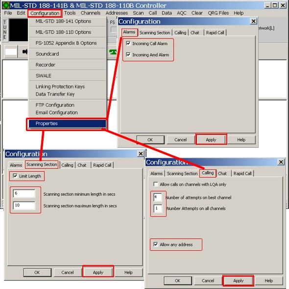 PC-ALE PCALE Set Up Configuration ALE Automatic Link Establishment